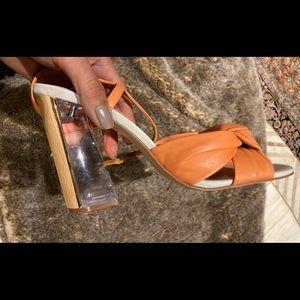 Calvin Kline Laureen Luxor Sandal- Coral
